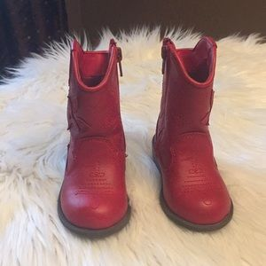 Red Cowgirl boots Cat & Jack toddler 6